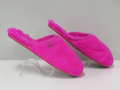 UGG Women's Pink Faux Fur Slide Slippers size 7