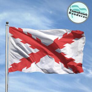 Bandera-Flag-CRUZ-DE-BORGONA-Drapeau-Flagge-Fahne-Bandiere