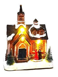 Spieluhr Weihnachten.Led Musik Winterdorf Weihnachtshaus Spieluhr Weihnachten