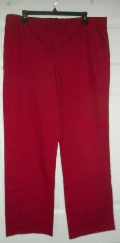 VLife Cranberry Red Womens Nurse Scrub Pants Style