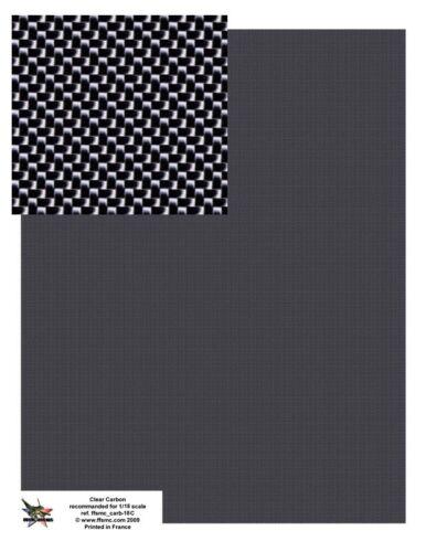FFSMC Productions Decals 1//18 Carbone Grande Planche format A4