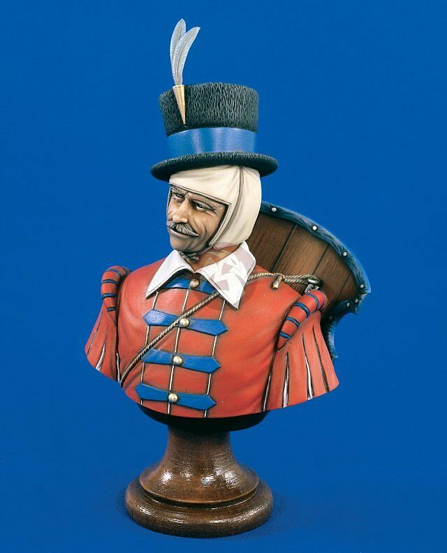 Verlinden 200mm 1 9 Croatian Hussar circa 16th Century Bust [Resin Figure] 1608