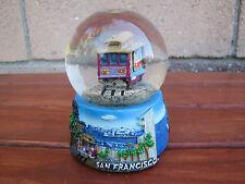 """San Francisco Snow Globe Dome Cable Car Golden Gate Bridge 3.5"""" Collectible"""