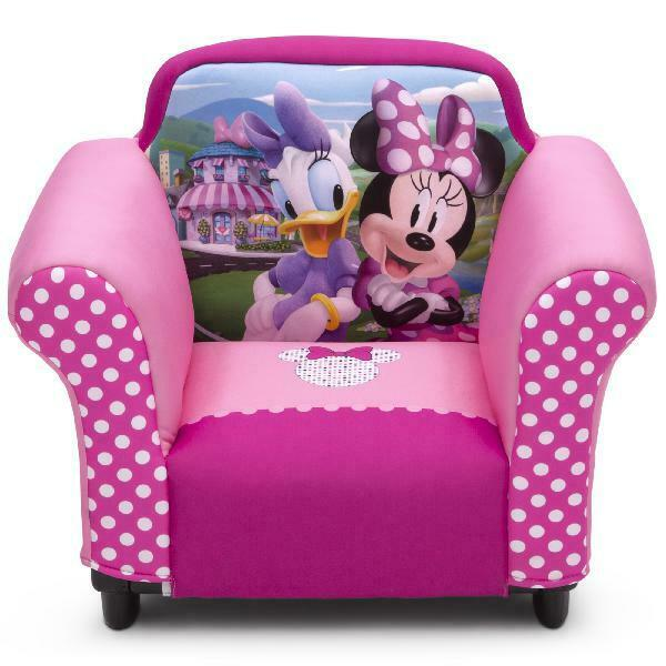 Disney Minnie Mouse Kids Bedroom Chair for Playroom Pink Girls Sofa