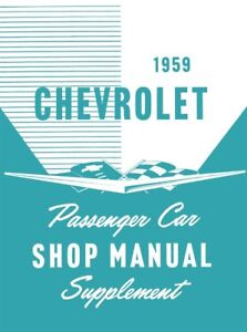 image is loading 1959-chevrolet-no-corvette-shop-service-repair-manual-