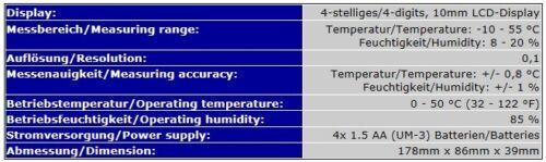 cereales, forraje - /& alimentos /& húmedos temperatura medidor de probador f15