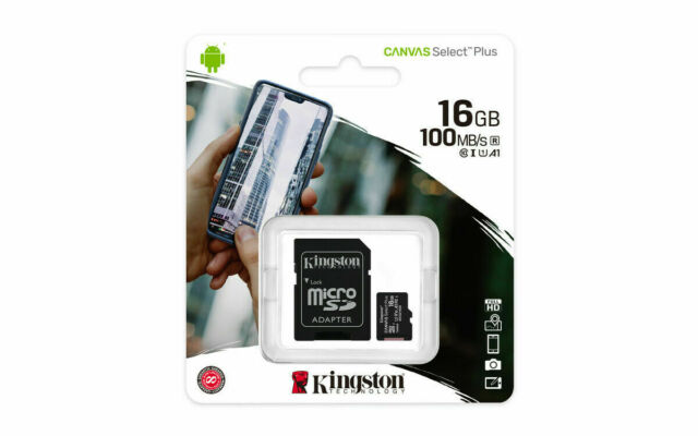 16 Gigabyte Professional Kingston MicroSDHC 16GB Card for Lemon Mobiles Duo 226 Phone with custom formatting and Standard SD Adapter. SDHC Class 4 Certified