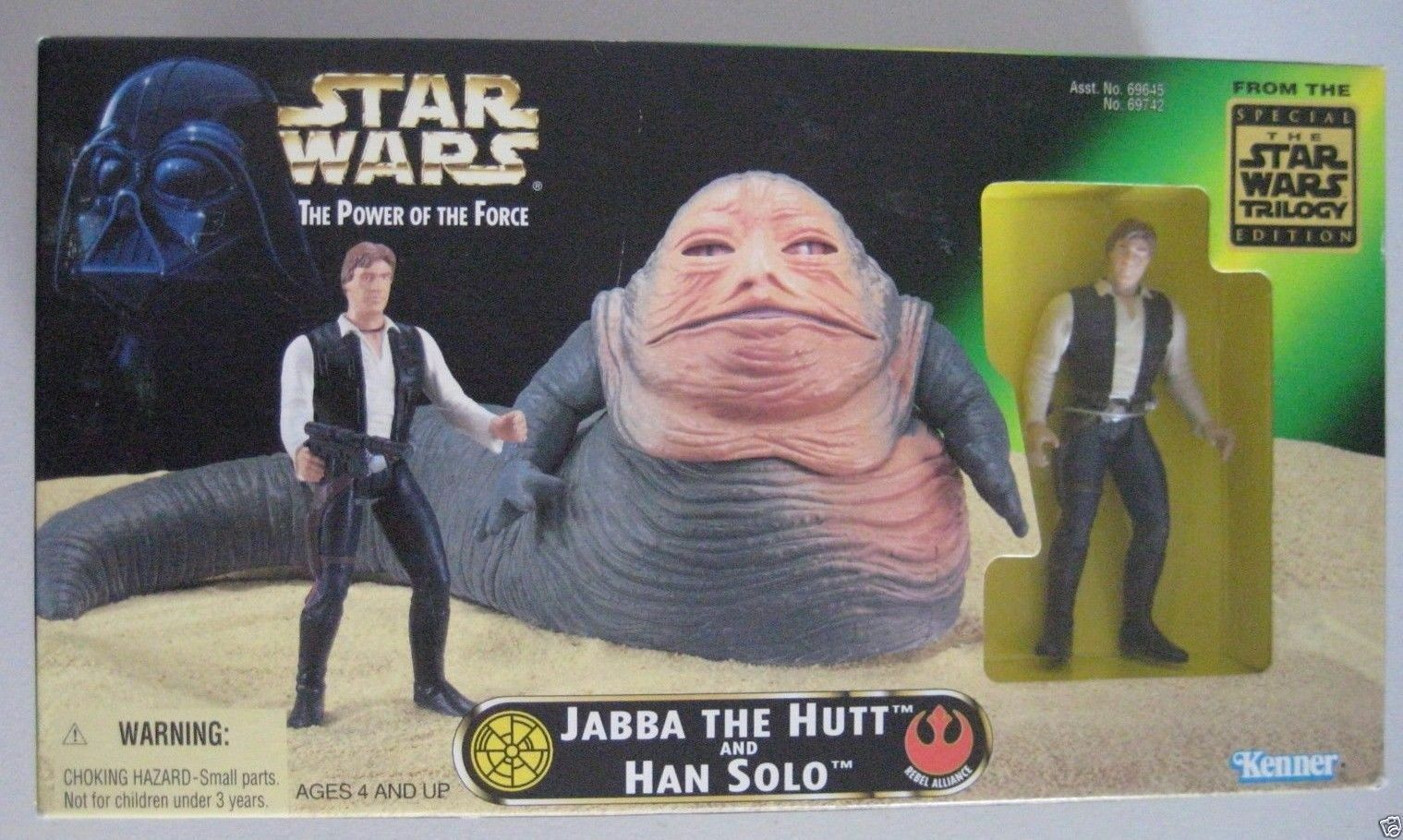 Jabba the Hutt and Han Solo Power of Force Star Wars a new Hope
