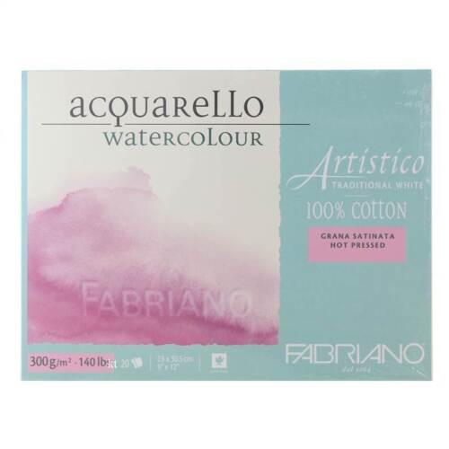Fabriano Acquarello Blanc Traditionnel Aquarelle Pad bloc-Tailles assorties!