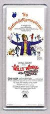 WILLY WONKA & THE CHOCOLATE FACTORY movie poster LARGE FRIDGE MAGNET -  CLASSIC!
