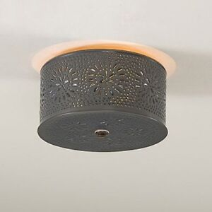 Decorative punched tin round flush mount ceiling light in country image is loading decorative punched tin round flush mount ceiling light aloadofball Image collections