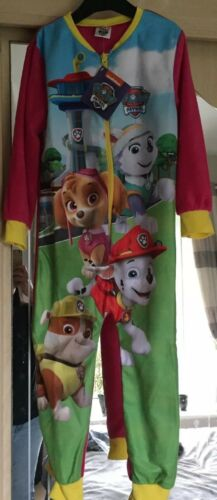 BNWT Girls Official Paw Patrol All In One Pjs Age 5-6