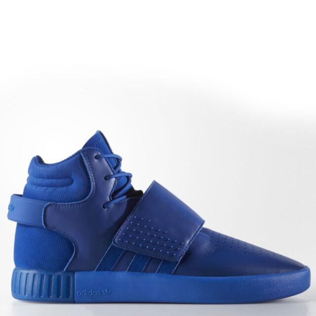 4c1e910d2a55 adidas Originals Men's Tubular Invader Strap Trainers Fashion Sneakers Blue
