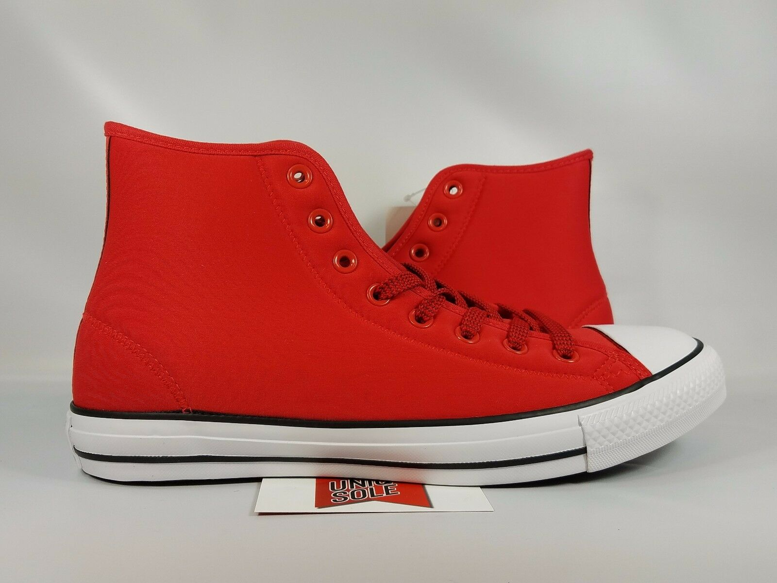 5e0120eef789 Converse Chuck Taylor All Star High Top CASINO RED RED RED WHITE NYLON  153971C sz 10.5 51fde7