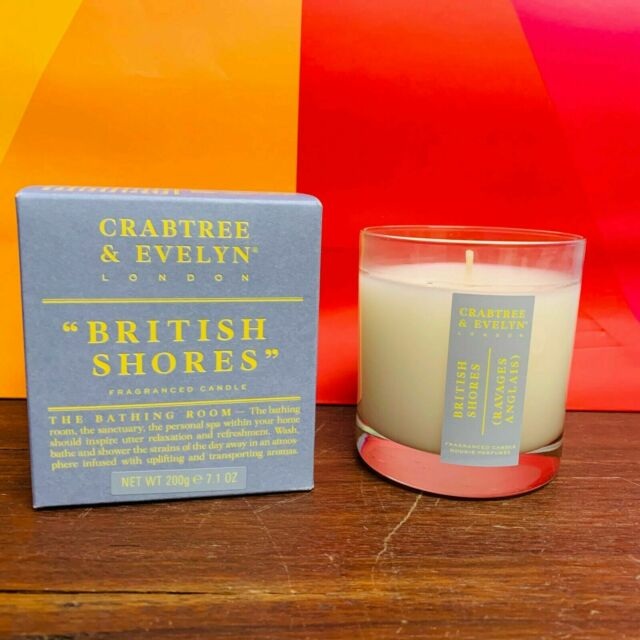Clearance 60%OFF Crabtree & Evelyn London British Shores Fragranced Candle 200g