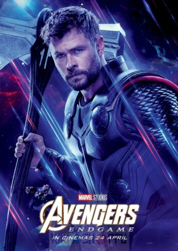 Poster A3 Vengadores Avengers Endgame Thor God Of Thunder Marvel Cartel 01
