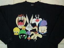 Vintage 1993 Looney Tunes Gang WB Bugs Taz Elmer Tweety Crew Neck Sweatshirt L