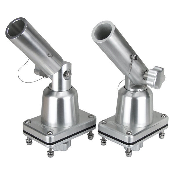 Boat Outrigger Pole Bases, Anodised Fishing Trolling Outrigger Mounts Pair   hot sale online