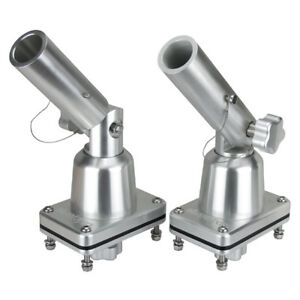 Details about Boat Outrigger Pole Bases, Anodised Fishing Trolling  Outrigger Mounts Pair
