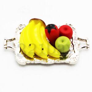 Deko Apfel Deko Bananen Miniatur Servierplatte Miniatur Essen Deko