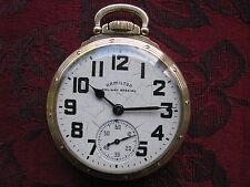 Hamilton 992B 21-jewel 16-size Railroad Pocket Watch, Model A Gold Filled Case