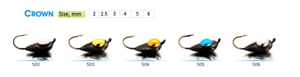 Tungsten-ICE-FISHING-034-SHARK-034-Jig-Heads-Crown-Japanese-hooks-2pcs-831