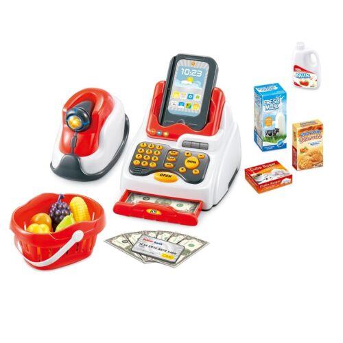 Kleinkindspielzeug Kaufläden & Zubehör Kasse für Kinder Spielkasse Kinderkasse Kinder Spielgeld Einkaufswagen Kaufladen
