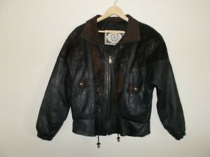 Women-039-s-Paris-Sports-Club-genuine-leather-casual-jacket-size-medium-pre-owned