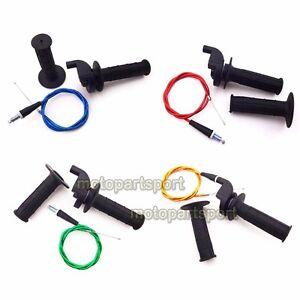 Dirt-Pit-Bike-Twist-Throttle-Cable-Grip-For-XR50-CRF50-Mini-Baja-SSR-TTR-BBR-KT
