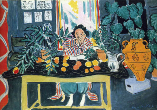 LARGE A3 SiZE QUALITY CANVAS PRINT WOMAN with FRUIT HENRI MATISSE