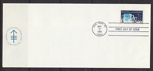 US-Sc-2087-FDC-1984-20c-Health-Research-Sloan-Kettering-cachet-VF