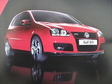 VW GOLF GTI Mk5 CD-ROM BROCHURE c2004-sentire il motore, guarda il video, (testo)