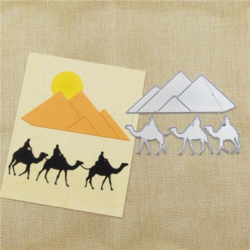 Stanzschablone Pyramide Kamel Weihnachten Hochzeit Geburtstag Karte Album Deko