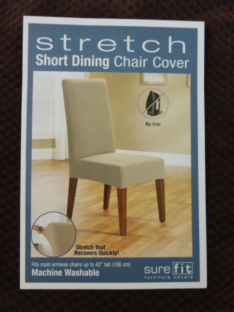 Sure Fit Stretch Pique Short Dining Room Chair Slipcover For Sale Online Ebay