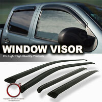 Dodge Ram 2500/3500 Crew Cab 10-15 Smoke Window Visors Rain/sun/snow Guard Shade