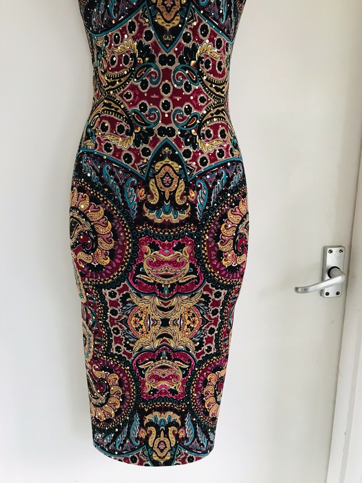 JOSEPH RIBKOFF Floral Colourful Sparkly Jersey Jersey Jersey Bodycon Dress 552814