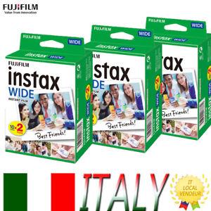 20 Scatti Fuji Instax Wide Pellicola Film per Fujifilm Istantanea WIDE300 200