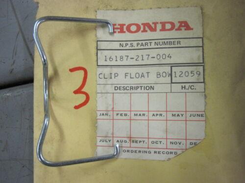 Honda 16187-217-004 FLOAT CHAMBER SET CLIP CL175