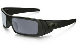 Oakley 03-473 Gascan Matte Rectangular Sunglasses 60mm - Black/Gray