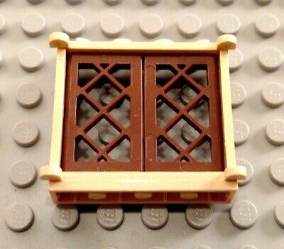 LEGO Tan 1x4x3 Window with White Panes