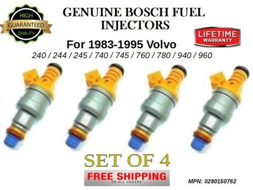 4x Bosch Fuel Injectors for 1983-1995 Volvo 240//244//245//740//745//760//780//940//960