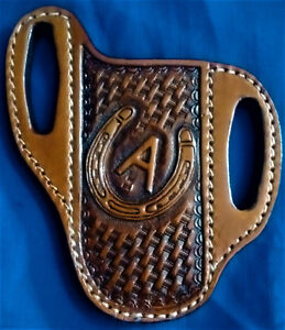CUSTOM-MADE-leather-knife-sheath-pancake-cross-draw-BUCK-110-case-scabbard-LARGE