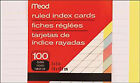 Mead Mea 63074 Index Cards Ruled 3 in X 5 in 100 Count Assorted