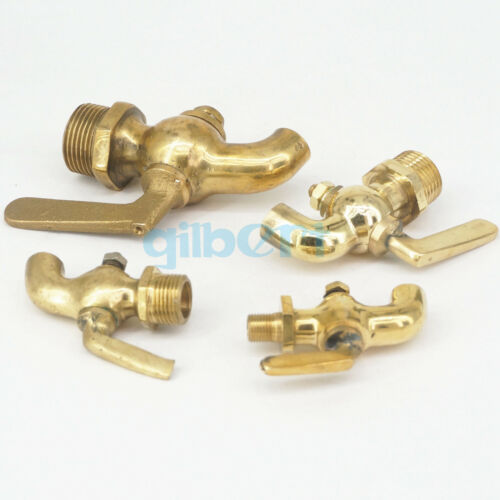 "1//8/"" 1//4/"" 3//8/"" 1//2/""  BSP Male Bronze Antique Brass Handle Faucet Petcock Tap"