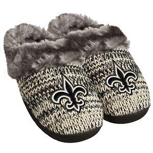 49d533a7 Details about New Orleans Saints Slippers Logo NEW Womens Slide House  shoes! Peak Slide