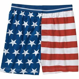 2032d1373870 Image is loading Mens-American-Flag-Boxers-Patriotic-Americana-Knit-Boxer-