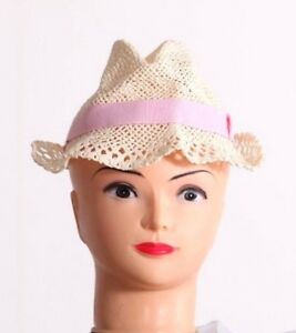 Benetton Kids Girls Hats   Caps Sun Protection Cappello Cream Straw ... 051dfd887002