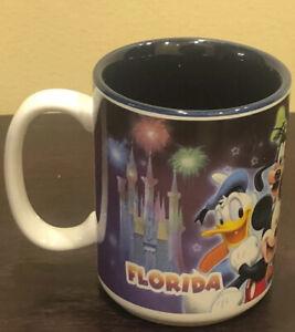 Disney-Mickey-Mouse-Florida-Monogram-Coffee-Cup-Mug-Ceramic-Minnie-Goofy-Donald