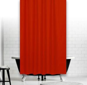 hochwertiger duschvorhang textil uni rot 180 x 200 cm inkl. Black Bedroom Furniture Sets. Home Design Ideas