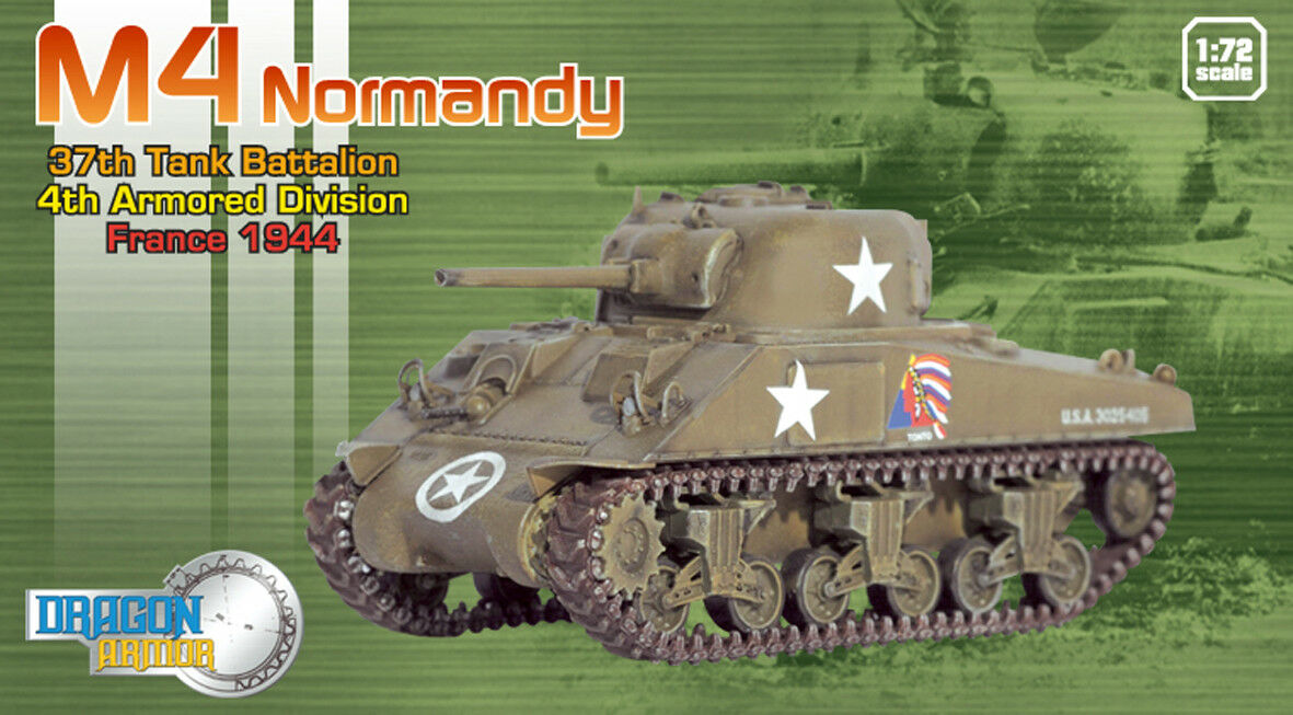 DRAGON ARMOR 1 72,    très rare    US Sherman M4 Normandy, Art.  60370
